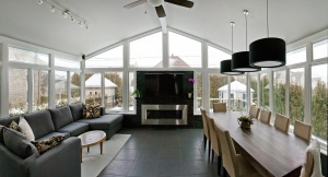 Make a Television Room out of your Sunroom